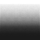 Dotted gradient vector illustration, retro halftone dots texture backdrop