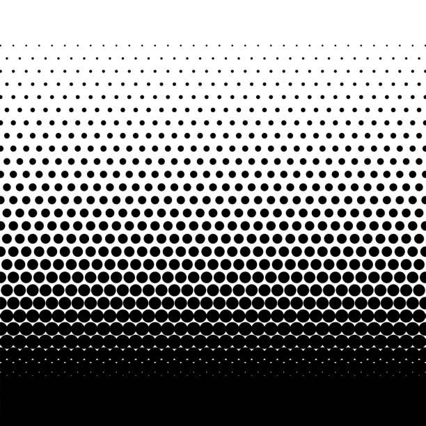 illustrazioni stock, clip art, cartoni animati e icone di tendenza di dotted gradient vector illustration - gradazione mezzo tono