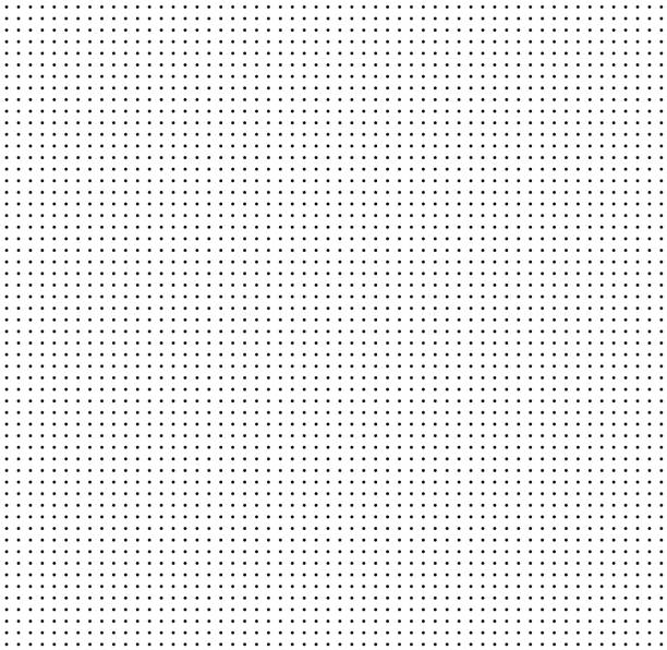 illustrazioni stock, clip art, cartoni animati e icone di tendenza di dotted grid on white background. seamless pattern with dots. dot grid graph paper. white abstract background with seamless dark dots design for your web site design, notes, banners, print, books. - chiazzato