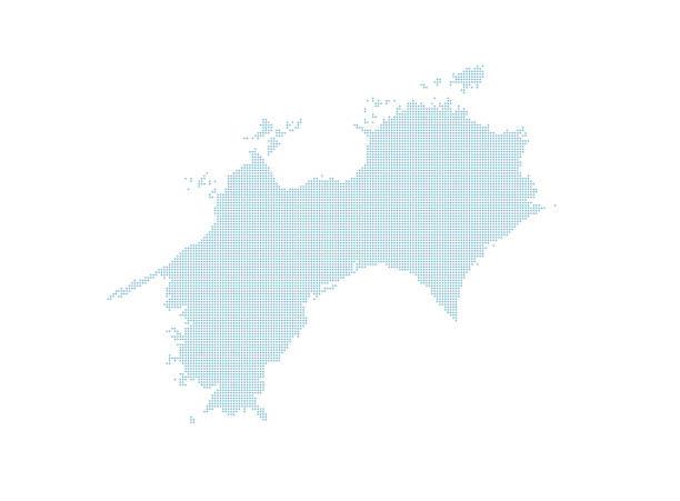 點綴日本地圖集,四國地區。 - hiroshima 幅插畫檔、美工圖案、卡通及圖標