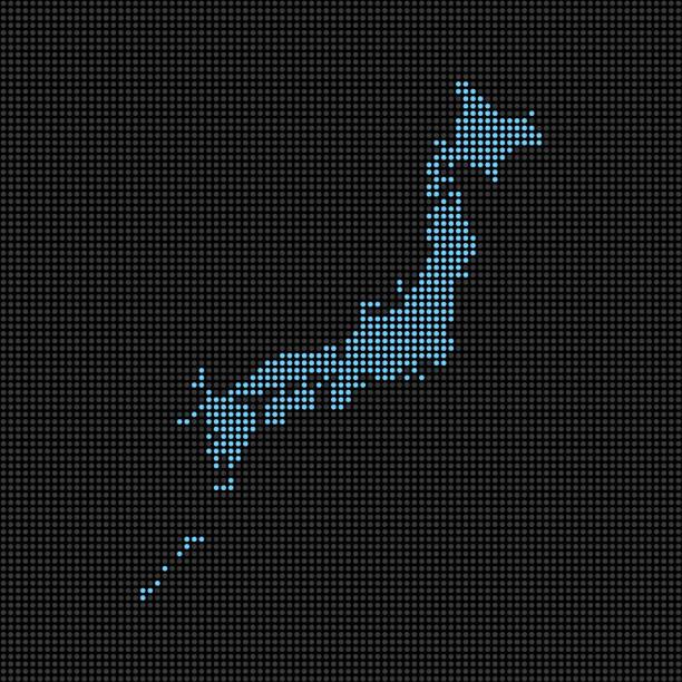 点線の日本地図 - 日本 地図点のイラスト素材/クリップアート素材/マンガ素材/アイコン素材
