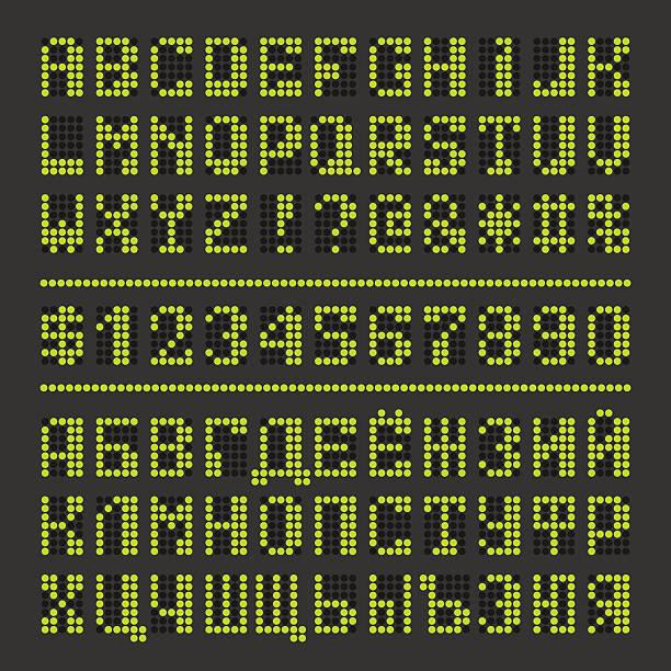 Best Dot Matrix Font Illustrations, Royalty-Free Vector Graphics