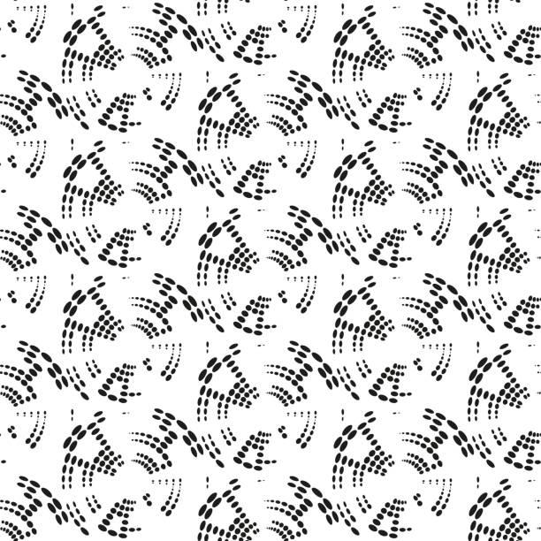 gepunktete nahtlose muster mit kreisen.   moderne und stilvolle geometrische hintergrund sich wiederholenden - gartendekorationen stock-grafiken, -clipart, -cartoons und -symbole