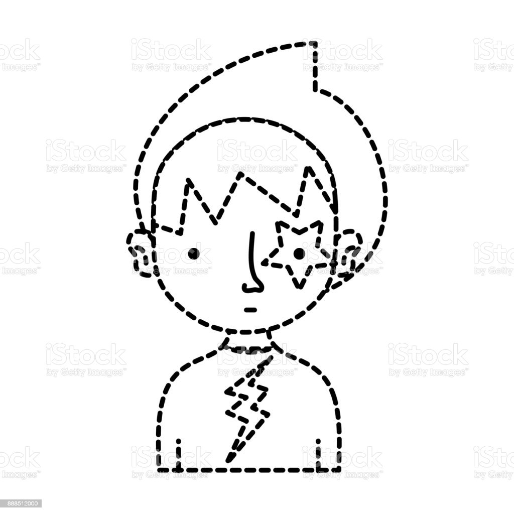 dotted shape boy rocker with star tattoo and tshirt stock vector art T Puzzle 4 Pieces Solution dotted shape boy rocker with star tattoo and t shirt royalty free dotted shape