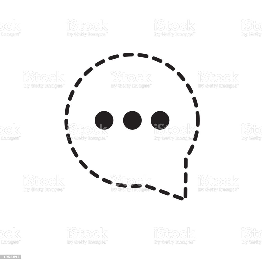 Dotted Shape Chat Bubble Communication Notes Message Stock