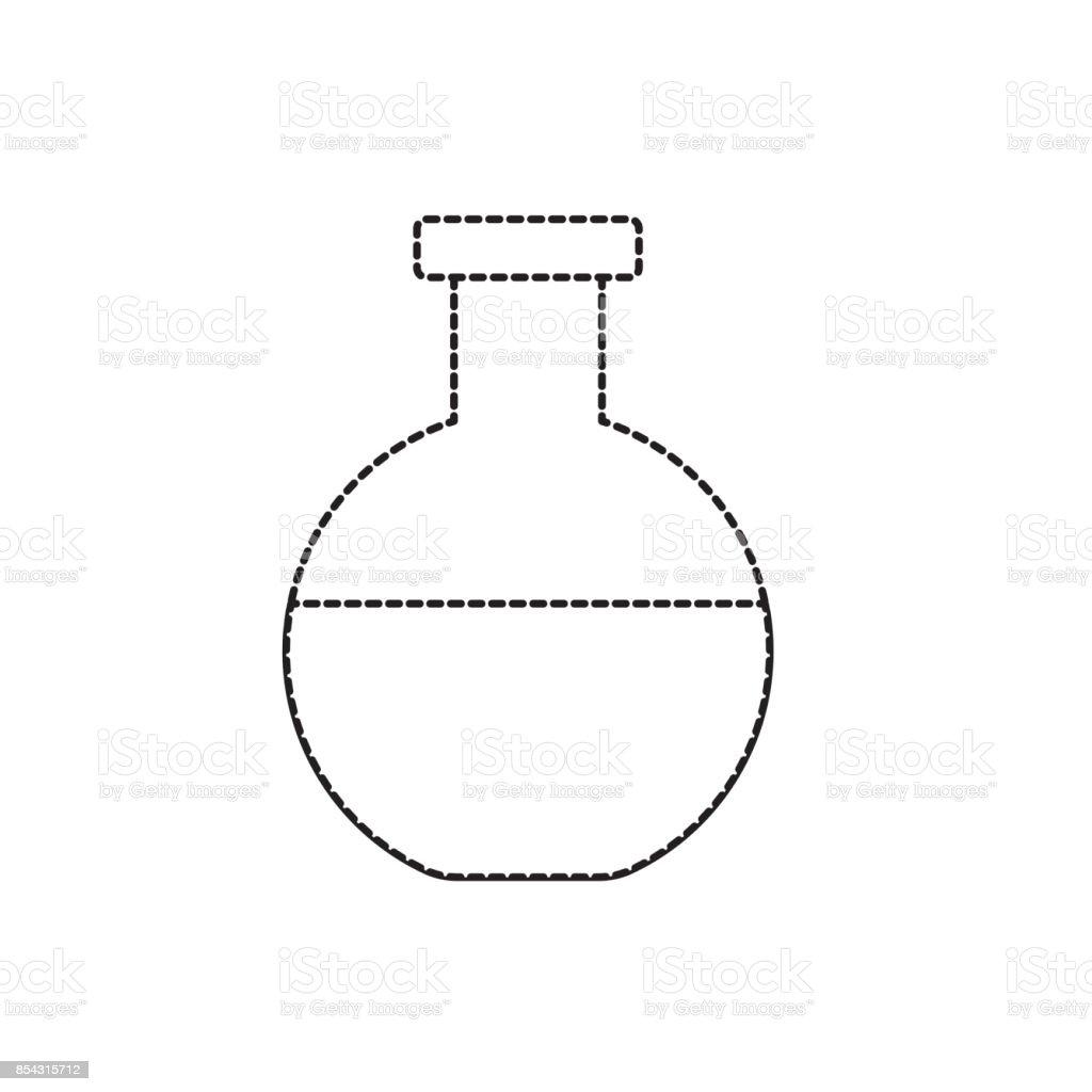 form design lab Gepunktete Form Erlenmeyerkolben Chemische Design Lab Stock Vektor
