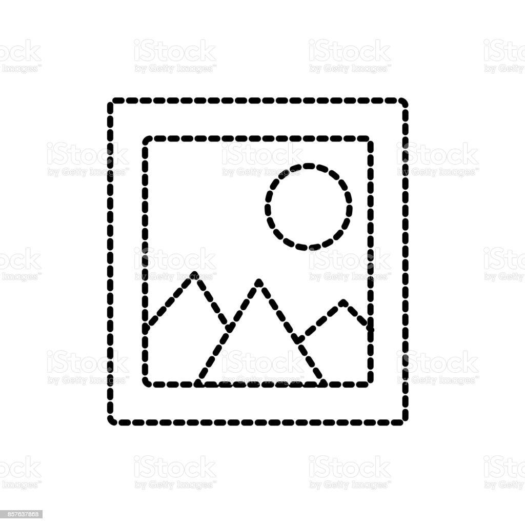 Gepunktete Rahmen Bild Bild Kunst Formgestaltung Stock Vektor Art ...
