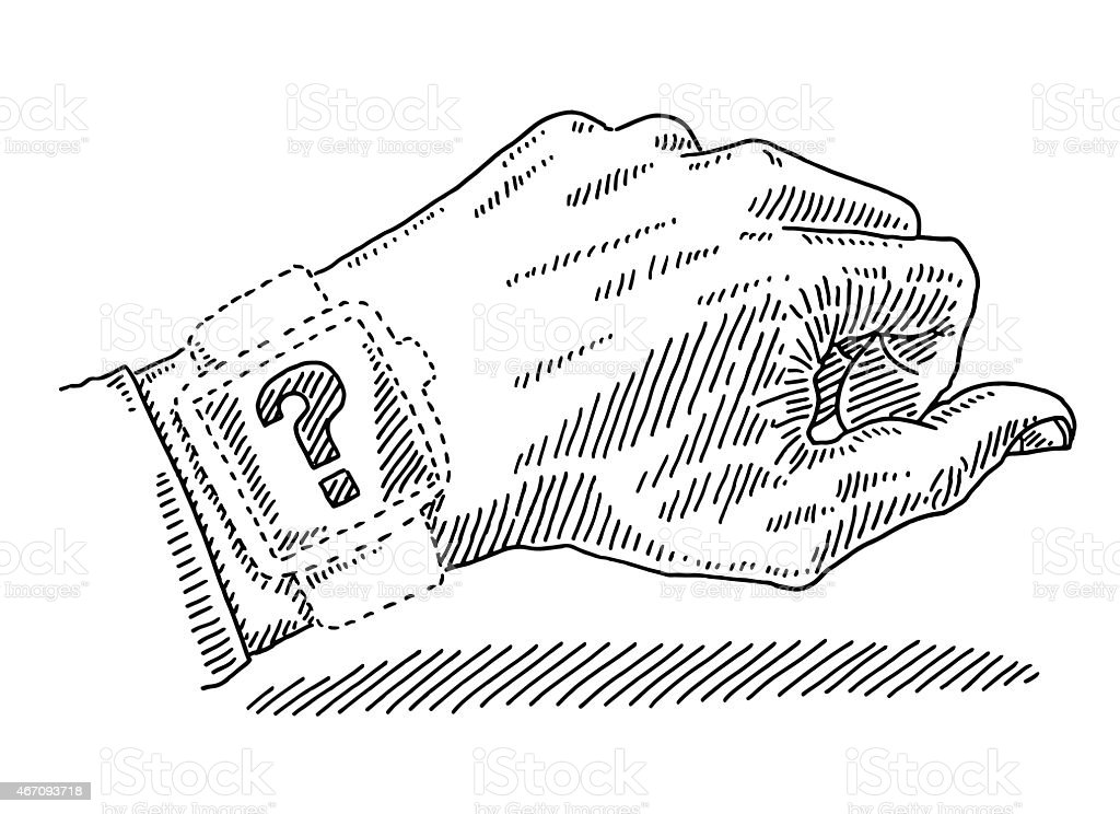 Dotted Shape Watch Question Mark Wrist Left Hand Drawing