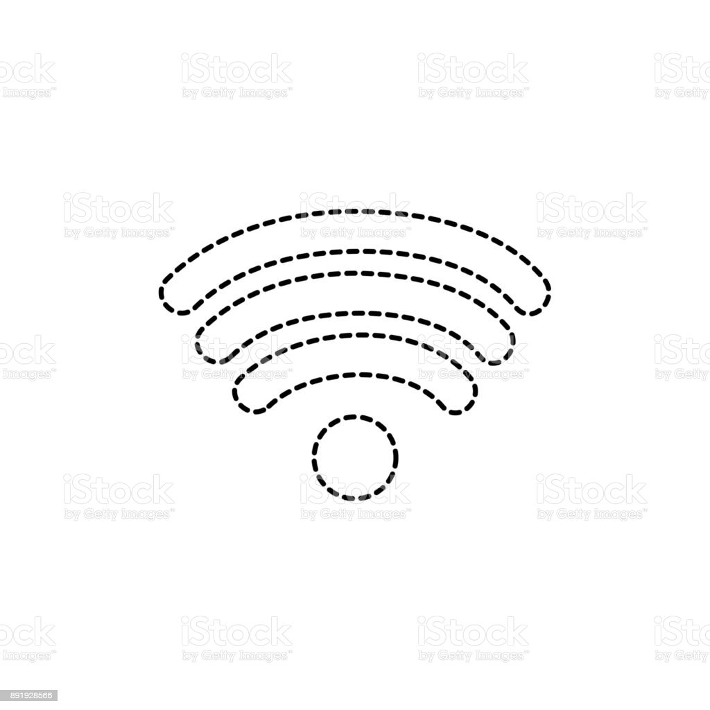 Dotted Shape Wifi Symbol Of Digital Internet Connection Stock Vector Diagram Royalty Free