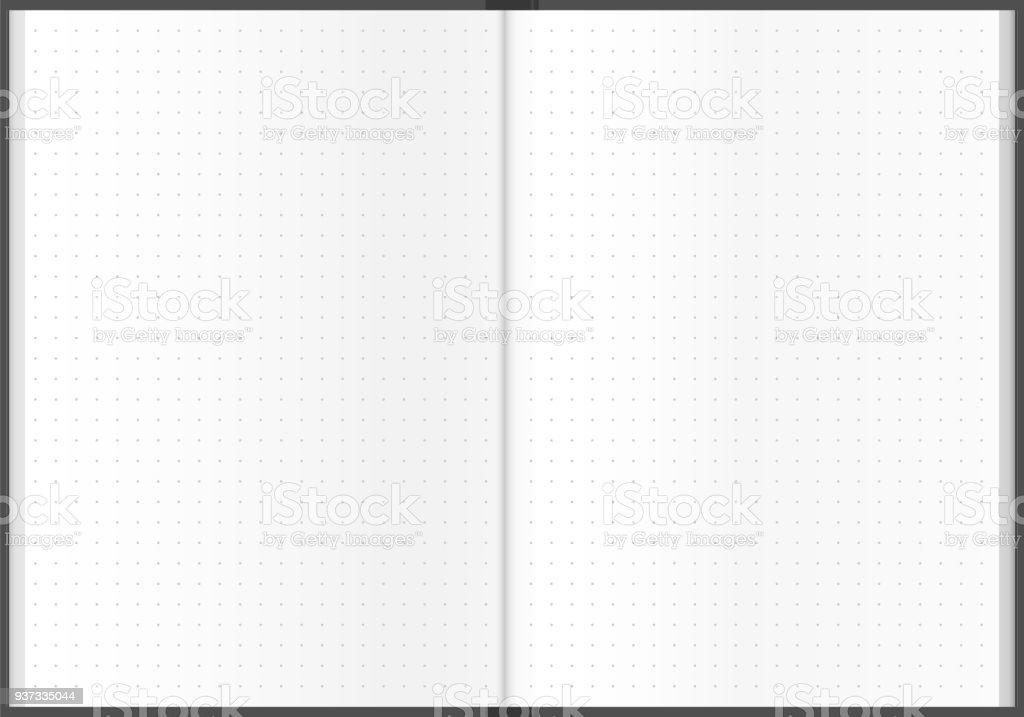 Dotted sheet notebook design illustration