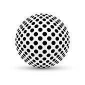 Vector abstract sphere. Carefully layered and grouped for easy editing.