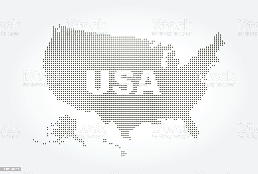 Line Art Usa Map : Royalty free flat world map atlas dot style clip art vector