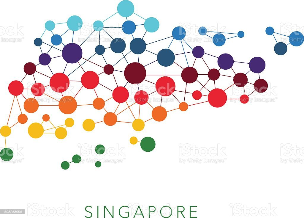 dotted texture Singapore vector background vector art illustration