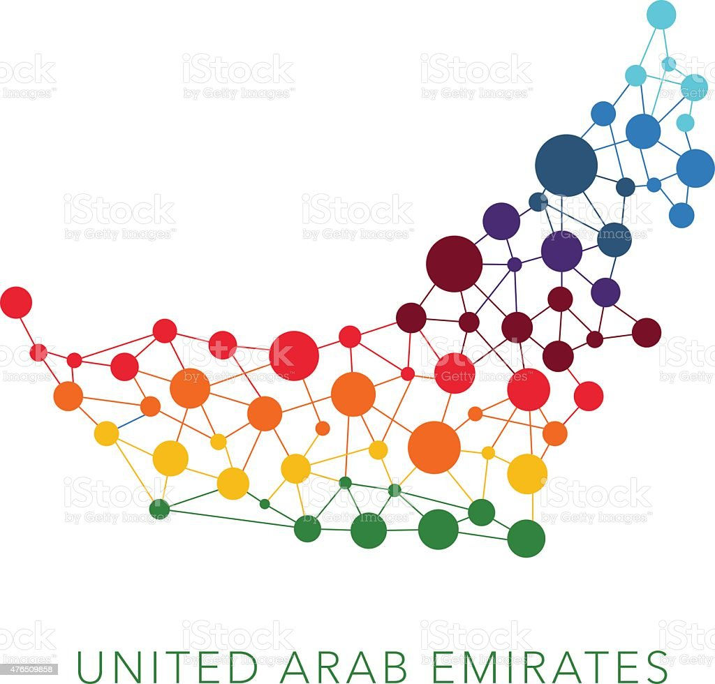dotted texture United Arab Emirates vector background vector art illustration