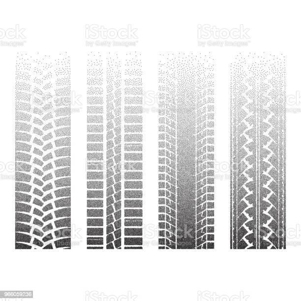 Prickade Hjulspår 6-vektorgrafik och fler bilder på Abstrakt