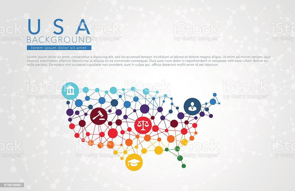 USA dotted vector background vector art illustration