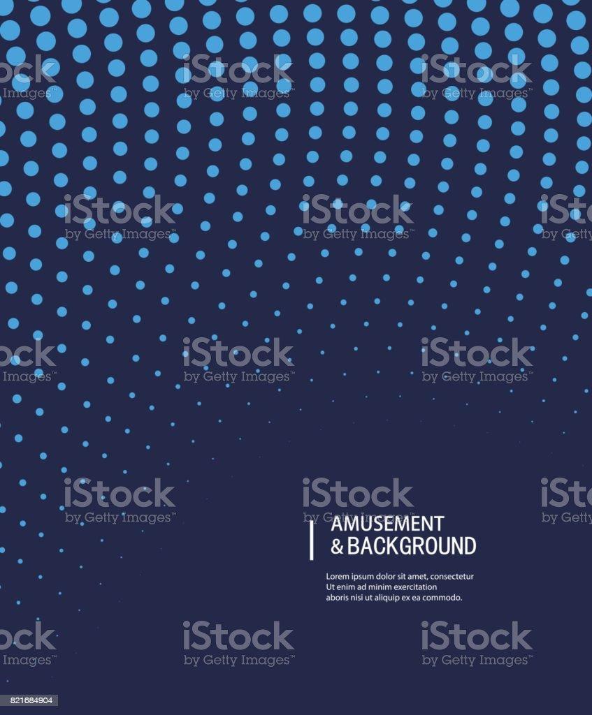 Dotted vector background vector art illustration