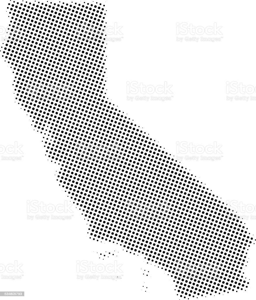 Dotted Vector Map Of California State Stock Vector Art More Images