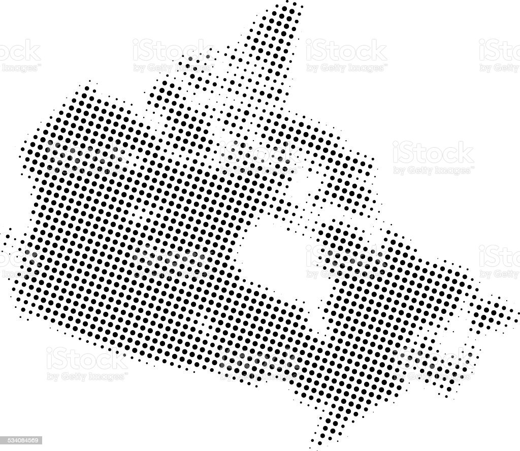 Dotted Vector Map Of Canada Stock Vector Art More Images of 2015