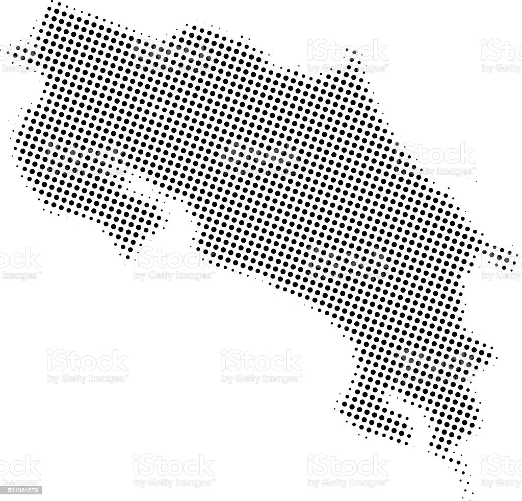 Dotted Vector Map Of Costa Rica Stock Vector Art & More Images of ...