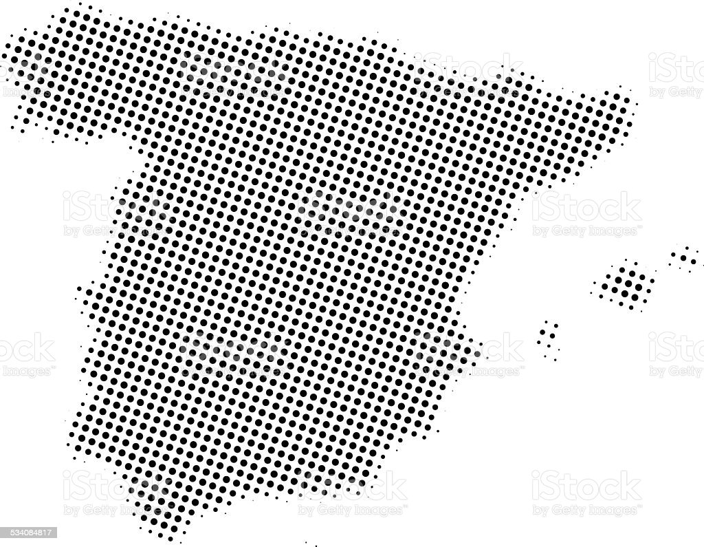 Dotted Vector Map Of Spain Stock Vector Art & More Images of 2015 ...