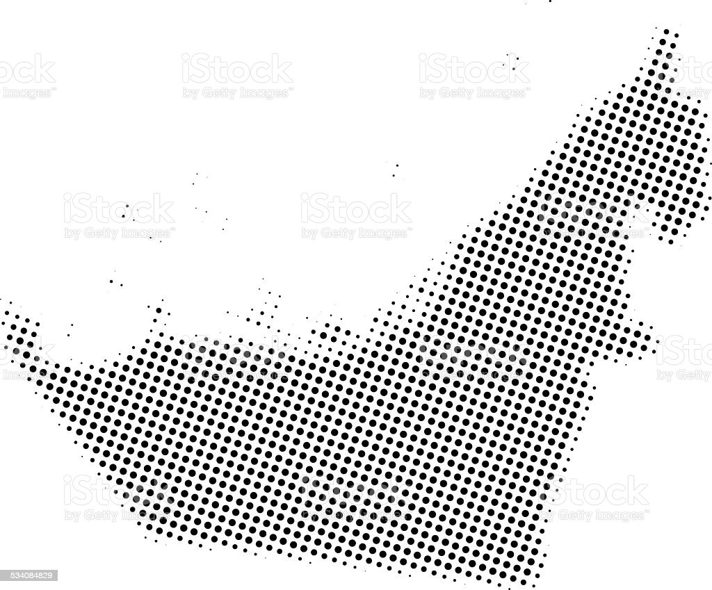 Dotted Vector Map Of United Arab Emirates Stock Vector Art & More ...