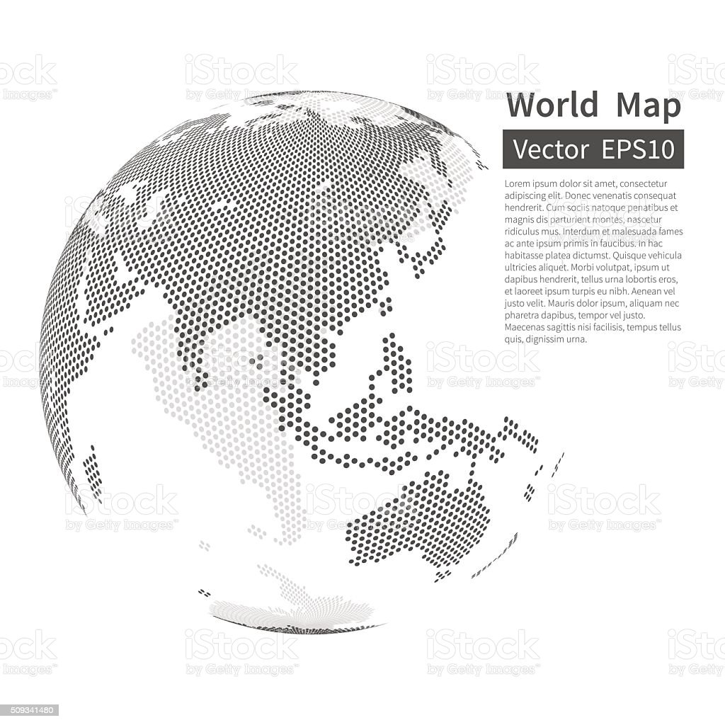 Dotted world map background earth globe globalization concept stock dotted world map background earth globe globalization concept royalty free dotted world map gumiabroncs Choice Image