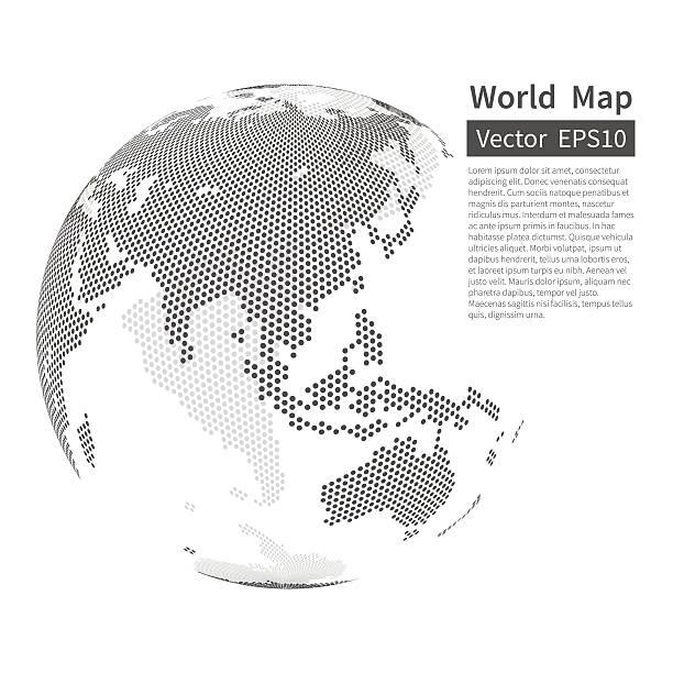 Pois la carte du monde en arrière-plan. Terre Globe. La mondialisation Concept - Illustration vectorielle