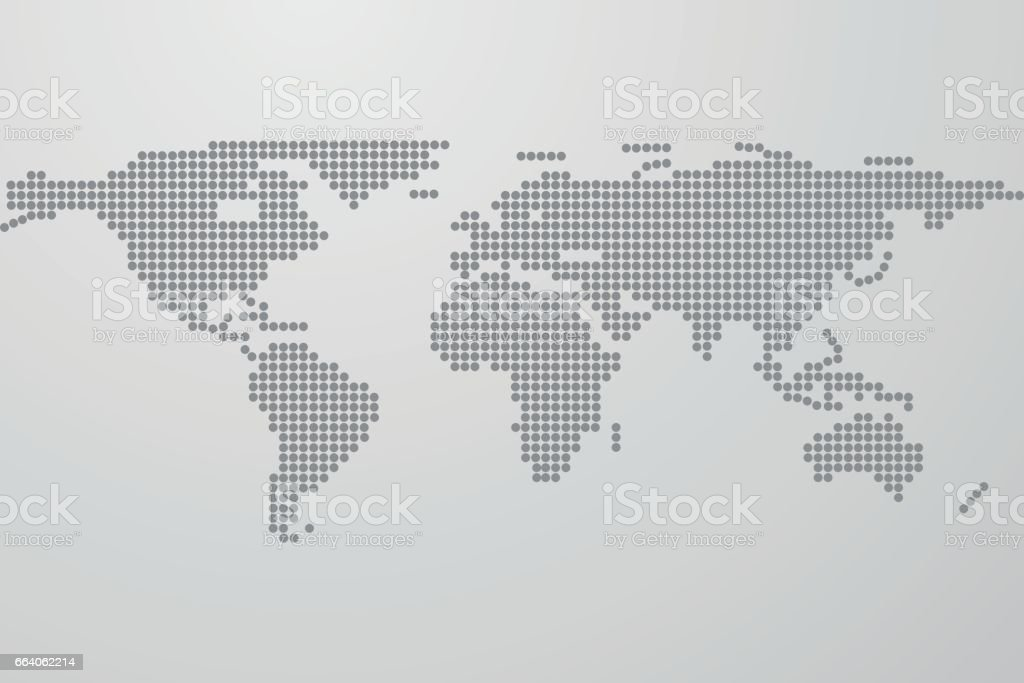 Dotted world map on gray gradient background world map from black dotted world map on gray gradient background world map from black dots dots in gumiabroncs Images