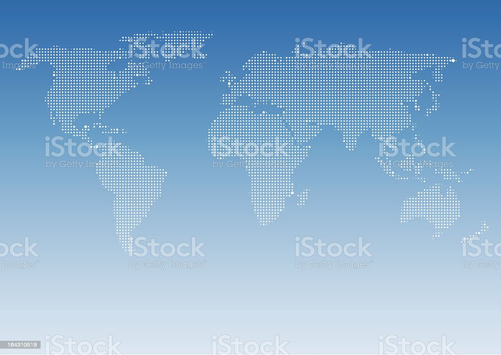 Dotted World Map royalty-free dotted world map stock vector art & more images of abstract