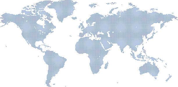 ドットワールドマップ - 世界地図点のイラスト素材/クリップアート素材/マンガ素材/アイコン素材