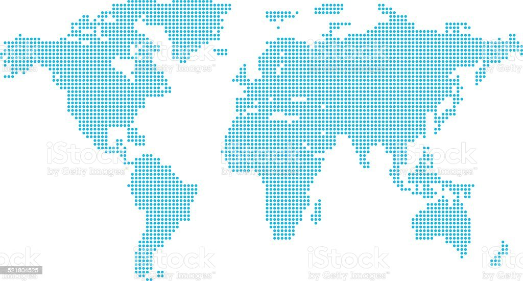 Dotted world map stock vector art more images of africa 521804525 dotted world map royalty free dotted world map stock vector art amp more images gumiabroncs Image collections