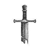 Dotwork Broken Sword