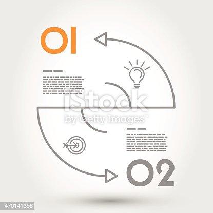istock double arc infographic concept 470141358