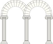 Double Arch In Ionic Style