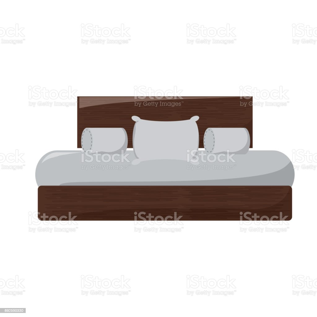 double bed icon image vector art illustration