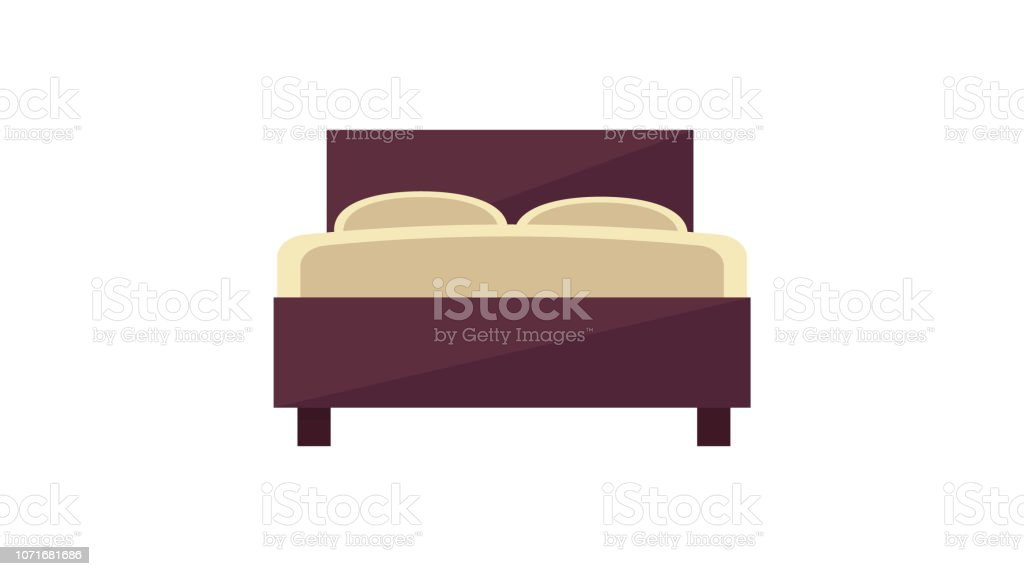 Double Bed Icon Stock Vector Art More Images Of Apartment