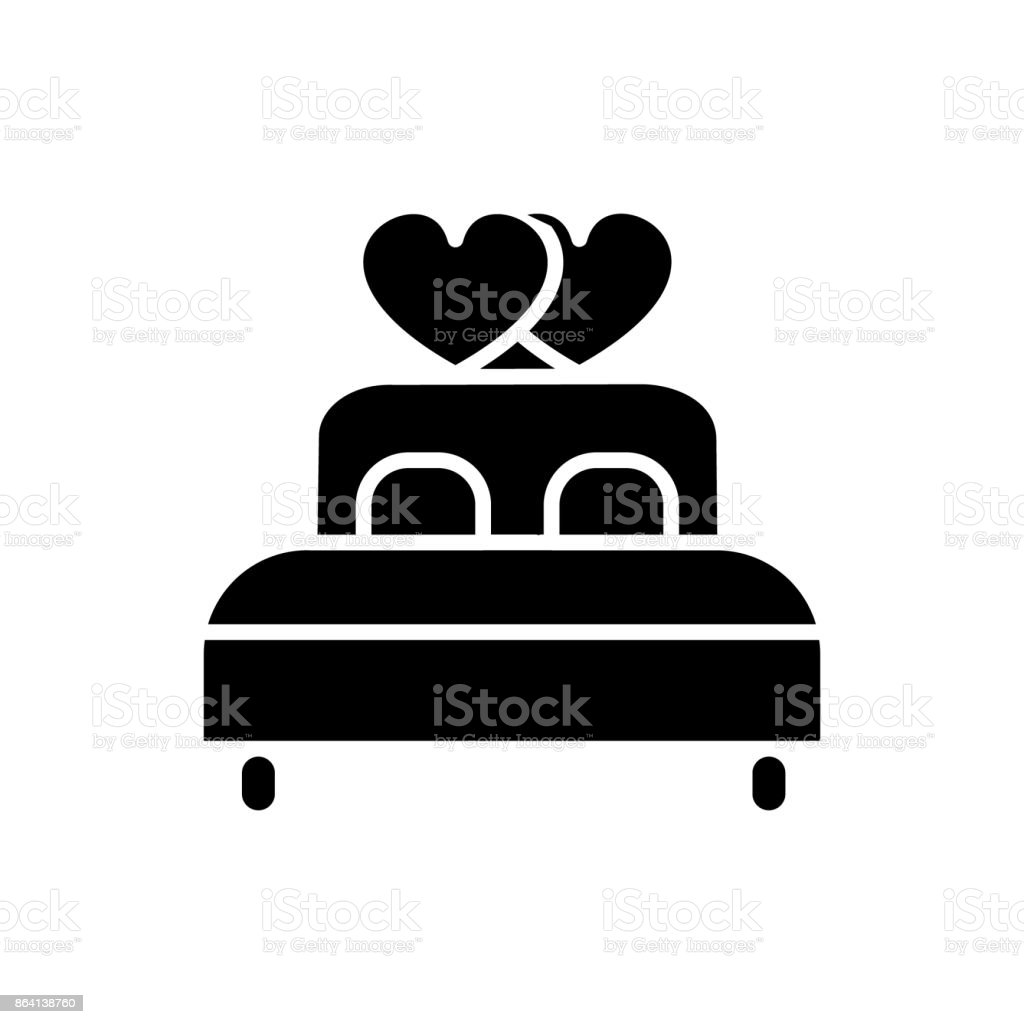 double bed   icon, vector illustration, sign on isolated background vector art illustration
