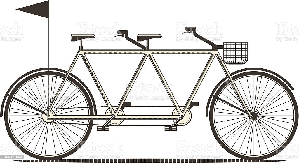 Double Bike royalty-free double bike stock vector art & more images of basket