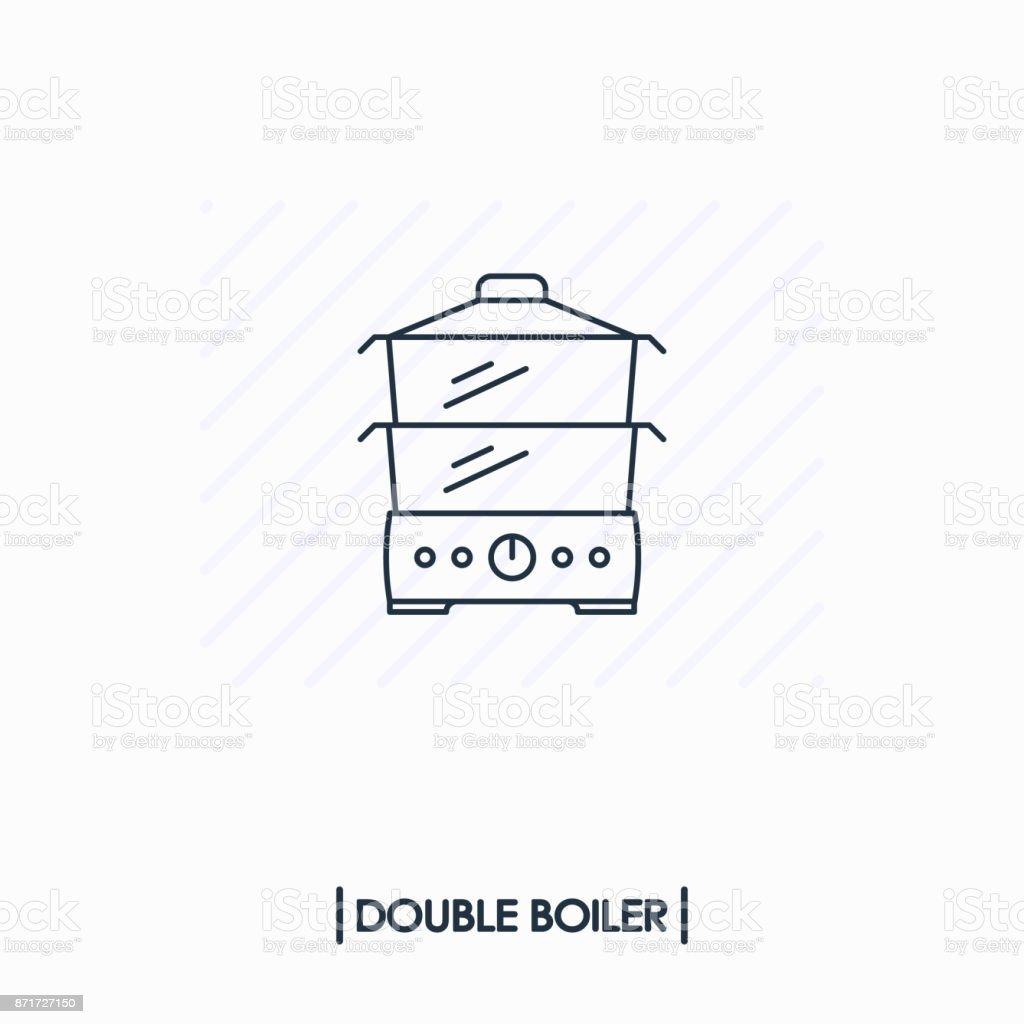 DoppelkesselÜbersichtsymbol Isoliert Stock Vektor Art und mehr ...