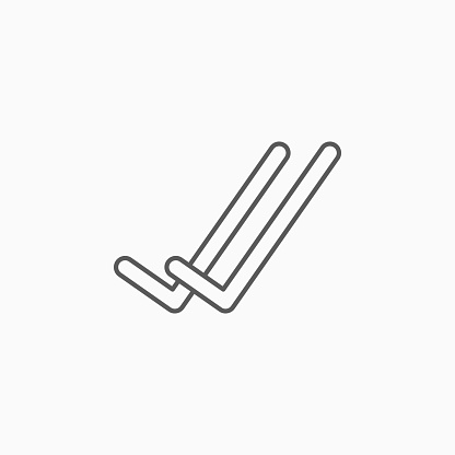 double check icon, agree vector