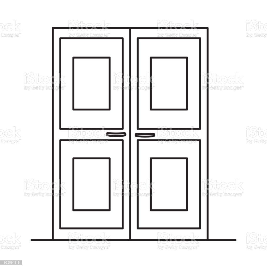 double doors icon double doors icon - stockowe grafiki wektorowe i więcej obrazów abstrakcja royalty-free