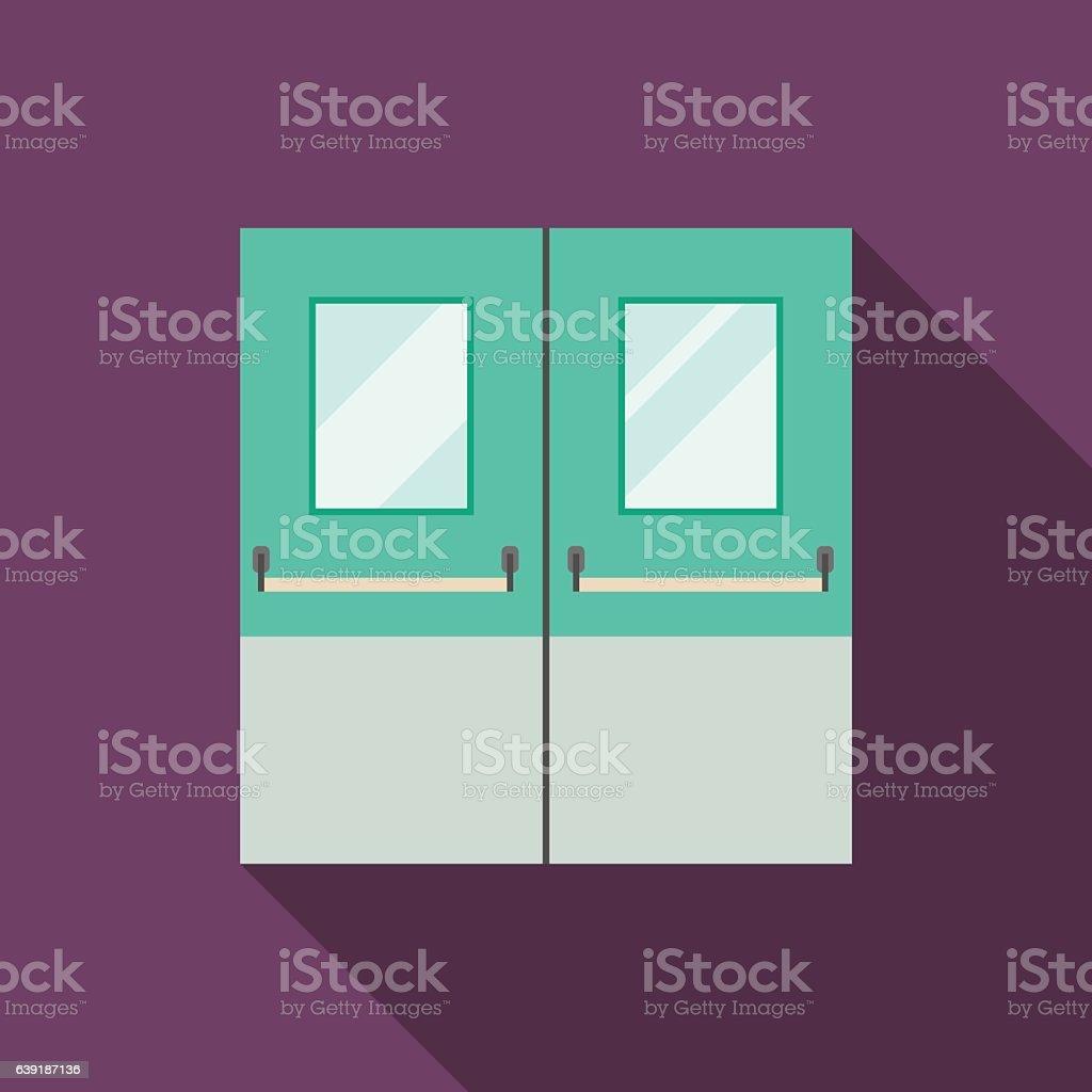 Double Doors vector art illustration