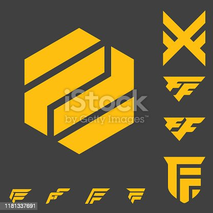 double F letter based logo stock, bold, simple modern and clean. can be used as streaming channel, sport or esport logo, apparel logo,, or any other purpose