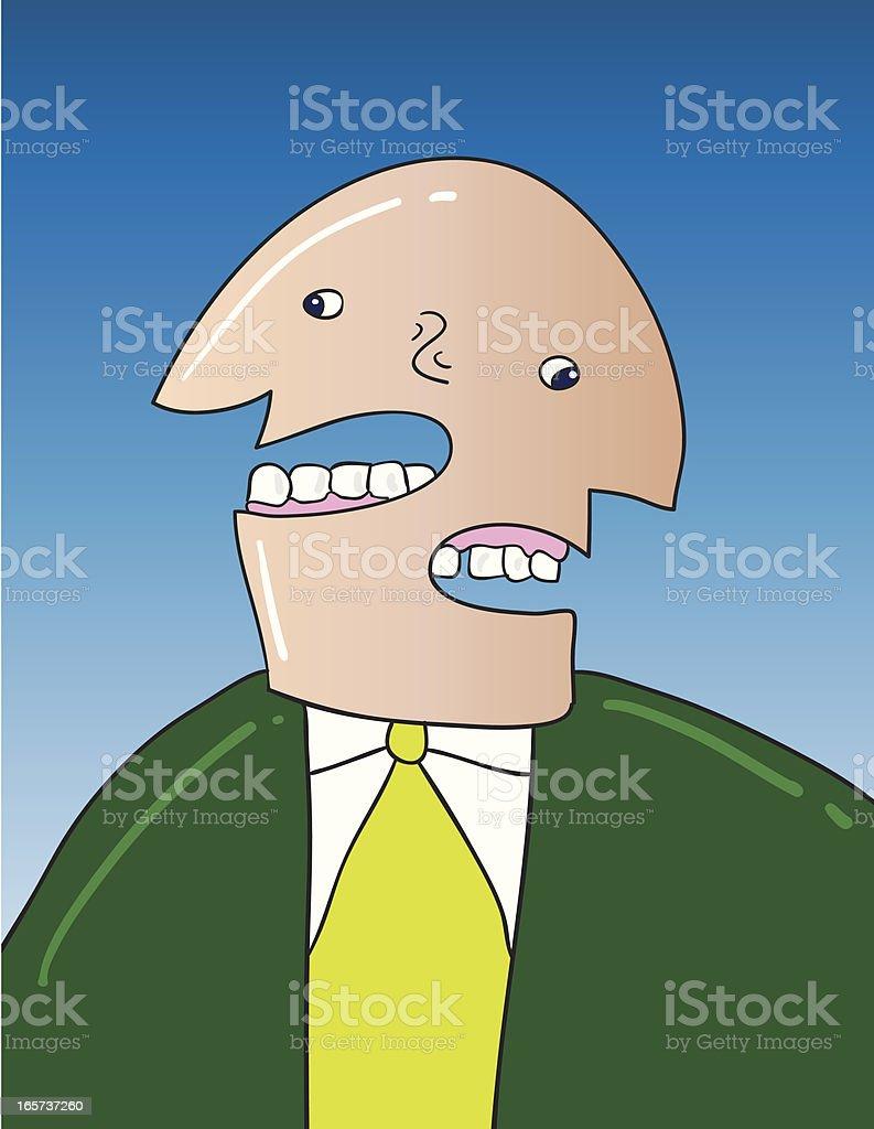 Double faced businessman vector art illustration