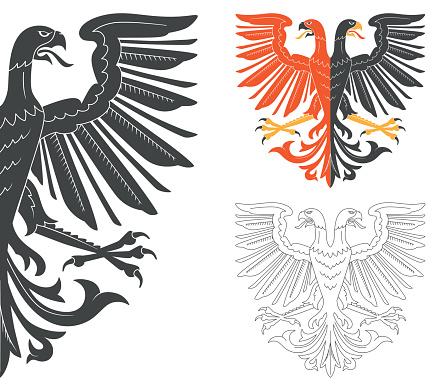 Double Headed Eagle Illustration
