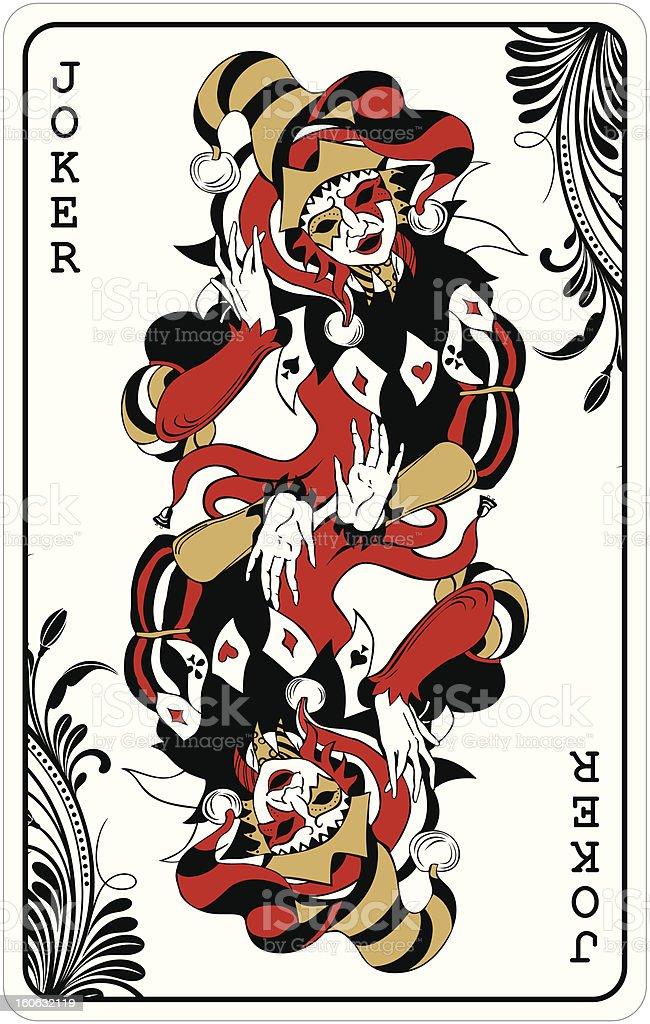 Double joker-Jeu de cartes - Illustration vectorielle