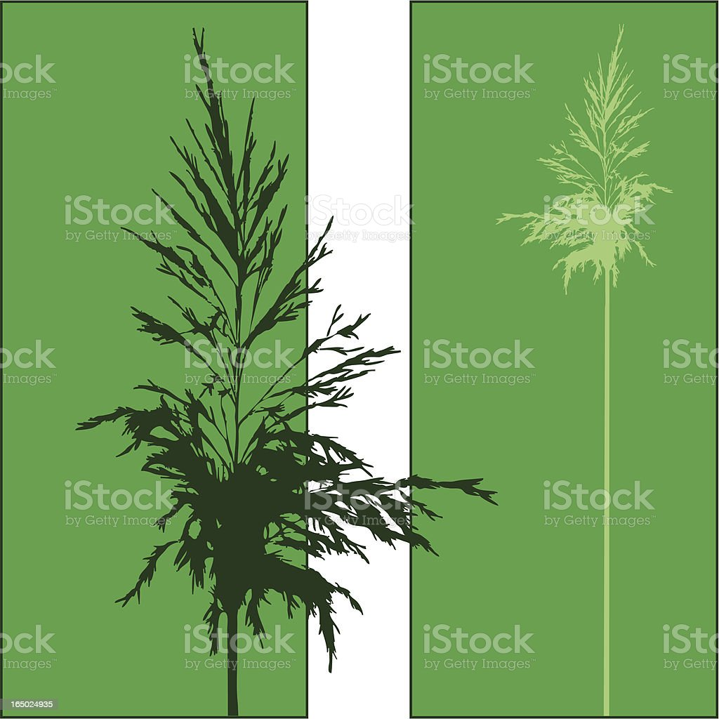 Double Plant royalty-free stock vector art