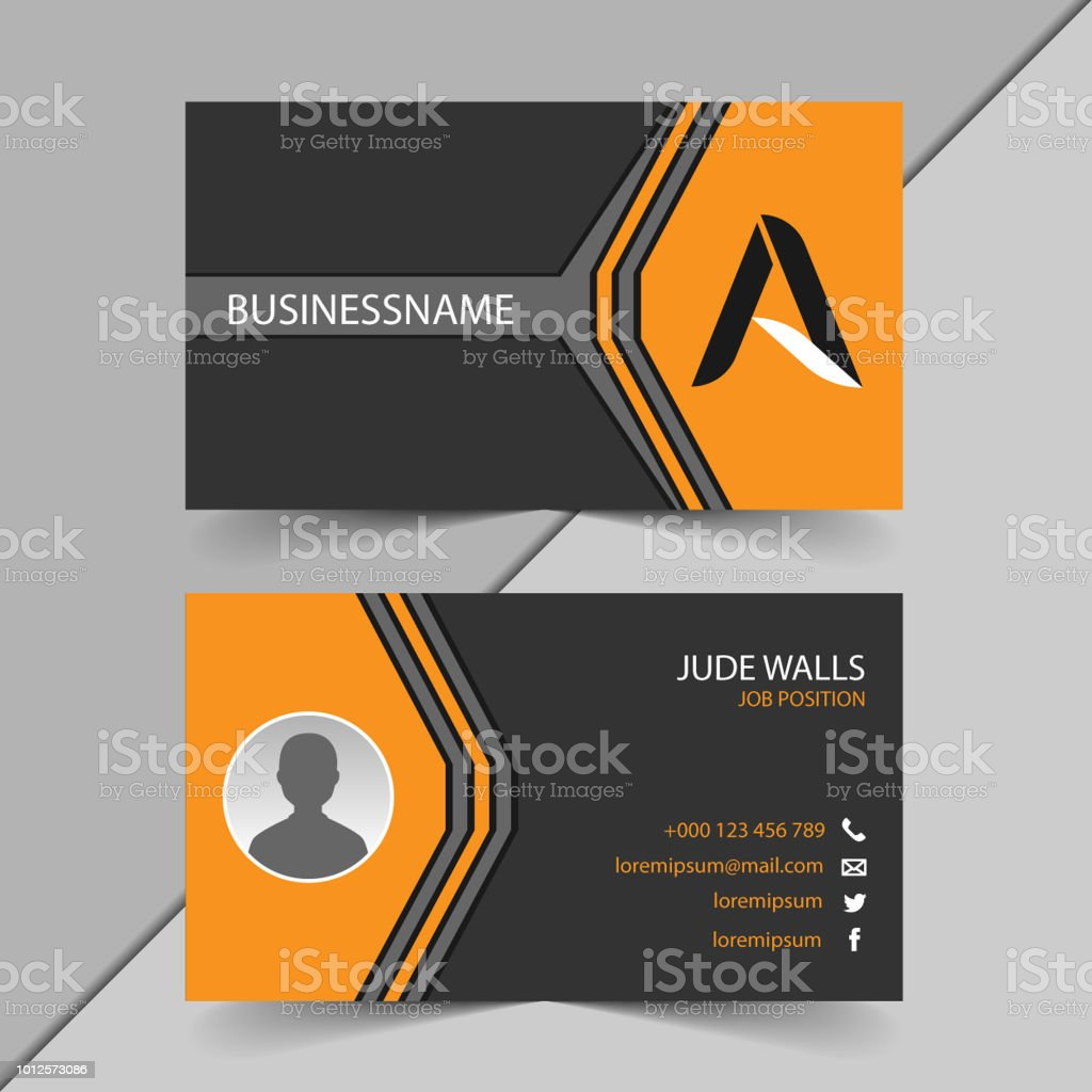 Double sided business card templates in black and orange stock double sided business card templates in black and orange royalty free double sided business card colourmoves