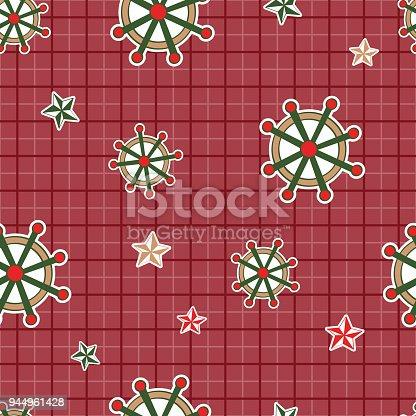 istock Double square shipwheel star ocean 944961428